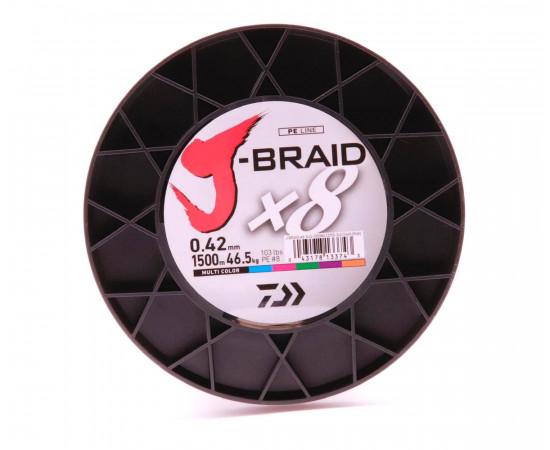 Daiwa J-Braid X8 multi colour Dm: 0,42 mm 103lbs 1500m